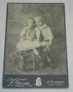 Фотография старинная «дети», С-Пб 19 век №2386