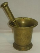 Ступа старинная, ступка с пестиком, «Т.К.» 1920-е годы №2889