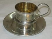 Кофейная пара из серебра 84 пробы, модерн, Россия 19 век №3062