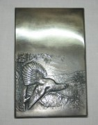 Накладка серебряная «Глухарь», серебро 875 пр, СССР №3151