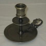 Подсвечник старинный, ночник, серебрение, «А. Кач» Россия 19 век №3177