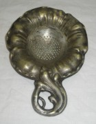 Ситечко старинное, серебрение, модерн, «Wolska» Варшава 19 век №3237