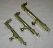 Шпингалеты старинные, разные, 3 штуки №3250