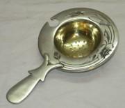 Ситечко старинное, модерн, серебро 84 пр, Россия 19 век №3459