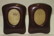 Рамки для фото старинные, фоторамки парные, красное дерево, модерн №3523