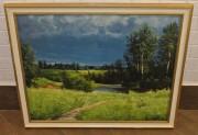 Картина старинная «Природа», большая, холст, масло №4036