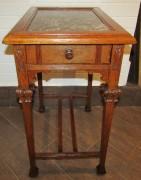 Стол под самовар, с мраморной столешницей, дуб, Россия 19 век №4112