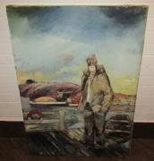 Картина «Моряк», соцреализм, масло, большая №4117