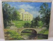 Картина «Павловск», масло, холст, «А. Дуксин» 2007 год №4334