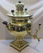Самовар угольный старинный «ваза», на 8,5 л, большой, клеймо есть, Россия 19 век №1083