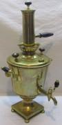 Самовар старинный эгоист «бокал», на 1,5 л, с трубой, «Пушковых» 19 век №1095