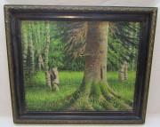 Картина «Лес. Елка», масло, холст, 20 век №5319
