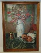 Картина натюрморт «Засохшая рябина», масло, 1995 год №5283