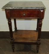 Стол старинный под самовар, дерево, мрамор №7176