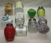 Коллекция старинных чайниц, 10 штук, фарфор, стекло, серебро 84 пр, 19 век №3557