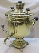 Самовар старинный угольный «фонарь», на 4 л, «Н.А. Воронцов» №1222