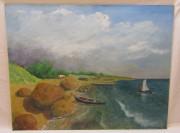 Картина «Пейзаж Лодка Озеро» №7370