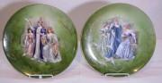 Тарелки старинные настенные, панно, модерн, фарфор, живопись №7445